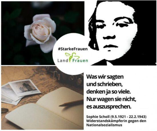 #Starke Frauen: Sophie Scholl – mutige Widerstandskämpferin